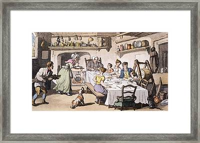 Mr Burchells First Visit, Pub Framed Print by English School
