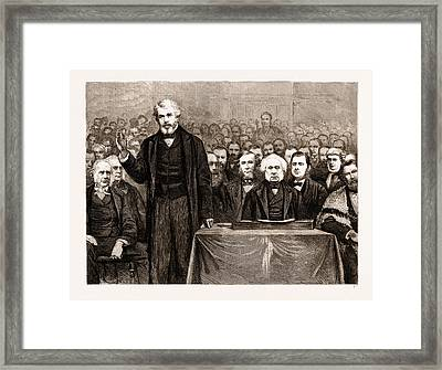 Mr. Carlyle Delivering The Address On His Installation Framed Print by Litz Collection