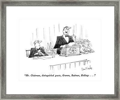 Mr. Chairman Framed Print