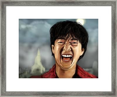 Mr. Chow Hangover Part 2 Framed Print by Mathieu Lalonde