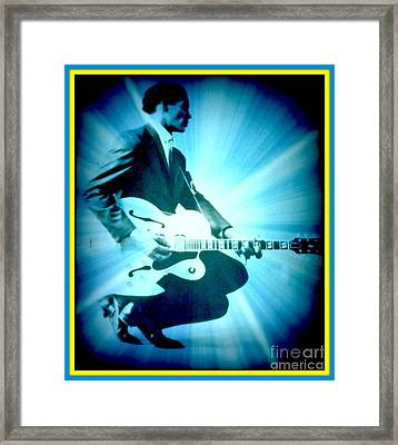 Mr Chuck Berry Blueberry Hill Style Edited 2 Framed Print by Kelly Awad