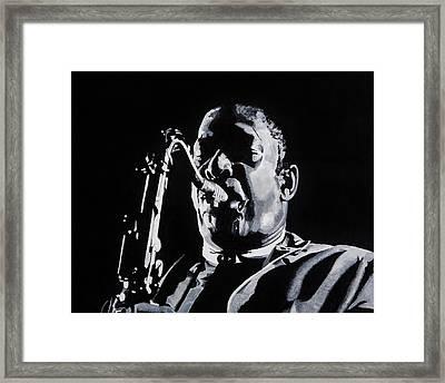 Mr Coltrane Framed Print by Brian Broadway