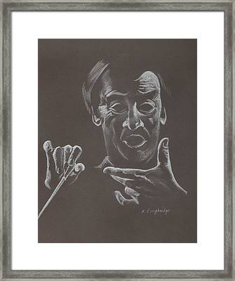 Mr Conductor Framed Print by Karen Loughridge KLArt