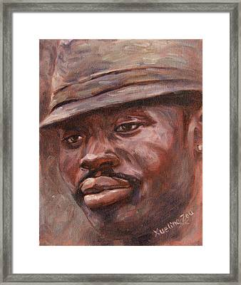 Mr Cool Hat Framed Print by Xueling Zou