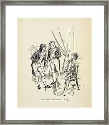 'mr Dashwood Introduced Him' Framed Print by British Library