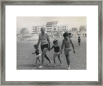 Mr. Edward Heath Takes Hovercraft Trip To French Framed Print by Retro Images Archive