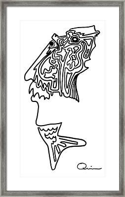 Mr. Fishman Framed Print