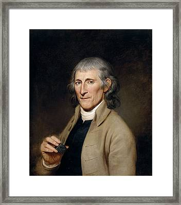 Mr. Francis Bailey, 1791 Oil On Canvas Pair To 403022 Framed Print by Charles Willson Peale