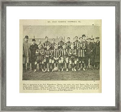 Mr Fred Karno's Football Xi Framed Print