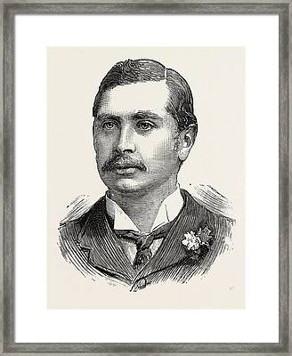 Mr. George Granville Leveson-gower M P. For Stoke-upon-trent Framed Print by English School