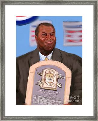 Mr. Gwynn Goes To Cooperstown Framed Print