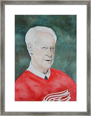 Mr. Hockey Framed Print by Betty-Anne McDonald
