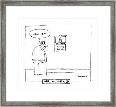 'mr. Humbug' Framed Print
