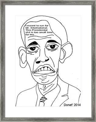 Mr. International Framed Print