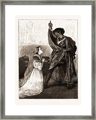 Mr. Irving And Miss Isabel Bateman In Othello At The Lyceum Framed Print
