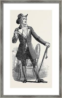 Mr. J. Wallack, As Dr Framed Print by English School