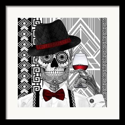 Black Man Mixed Media Framed Prints