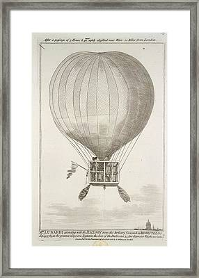 Mr. Lunardi Ascending Framed Print by British Library