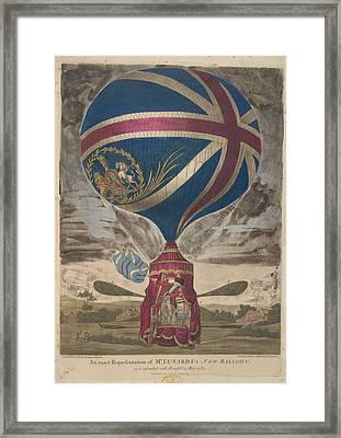 Mr. Lunardi's New Balloon Framed Print
