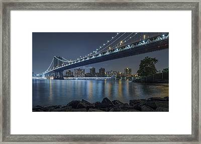Mr Manhattan  Framed Print