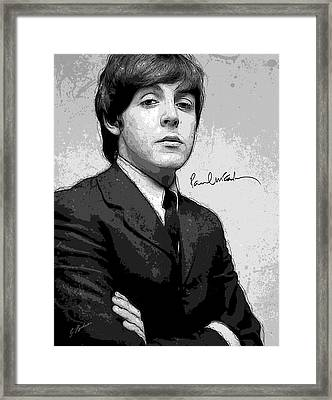 Mr. Mccartney Framed Print by Gary Bodnar