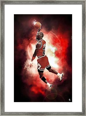 Mr. Michael Jeffrey Jordan Aka Air Jordan Mj Framed Print by Nicholas  Grunas