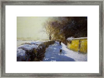 Mr Moores Lane Albrighton Framed Print