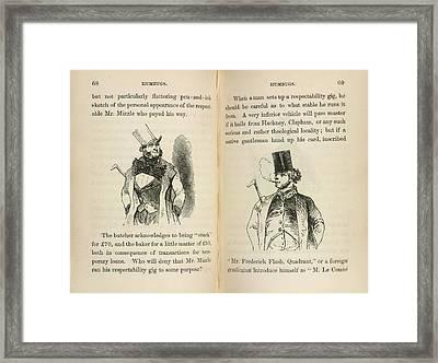 Mr Muzzle And Mr Frederick Flash Framed Print
