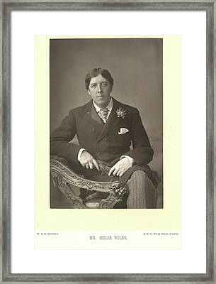 Mr Oscar Wilde Framed Print
