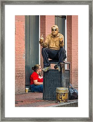 Mr. Personality Framed Print by Steve Harrington