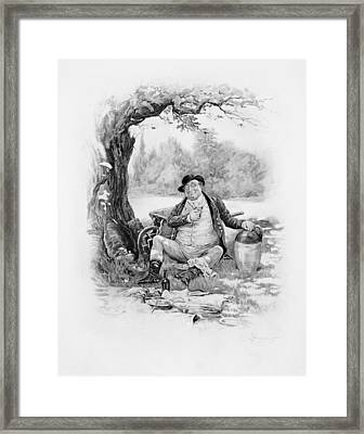 Mr Pickwick, From Charles Dickens A Framed Print