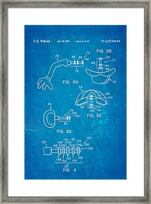 Mr Potato Head 2 Patent Art 2001 Blueprint Framed Print by Ian Monk