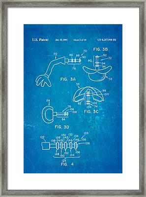 Mr Potato Head 2 Patent Art 2001 Blueprint Framed Print
