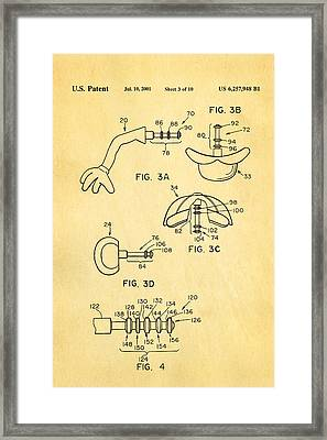 Mr Potato Head 2 Patent Art 2001 Framed Print by Ian Monk