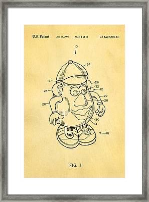 Mr Potato Head Patent Art 2001 Framed Print