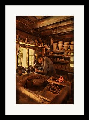 Potter And Clay Framed Prints