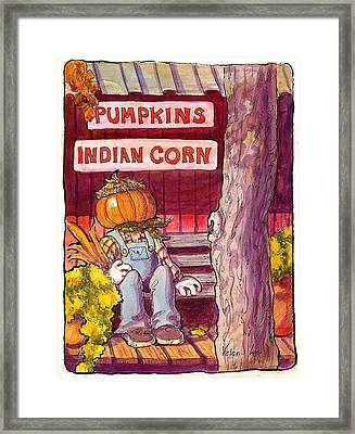 Mr. Pumpkin Framed Print by Victoria Lisi