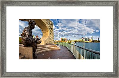 Mr Rogers Statue In Pittsburgh Framed Print by Emmanuel Panagiotakis