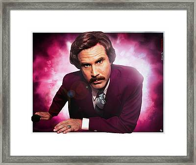 Mr. Ron Mr. Ron Burgundy From Anchorman Framed Print