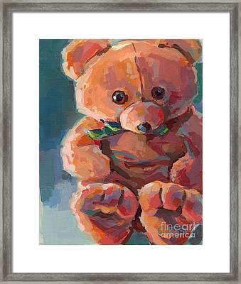 Mr Snuggles Framed Print by Kimberly Santini