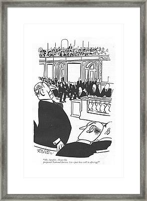 Mr. Speaker. About This Proposed National Service Framed Print by Mischa Richter