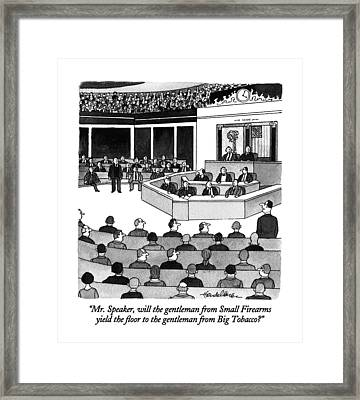 Mr. Speaker Framed Print