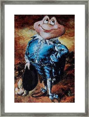 Mr Toad Framed Print