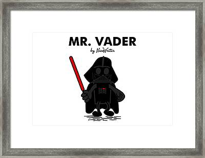 Mr Vader Framed Print by NicoWriter