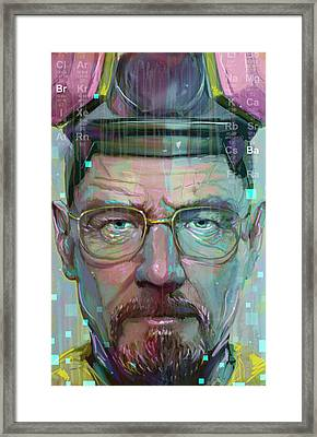 Mr. White Framed Print by Jeremy Scott