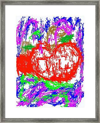 Mr.apple Rotten Framed Print by Andre Carrion