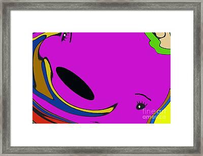 Mr.grape The Whale Framed Print by Geraldine DeBoer