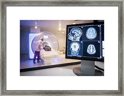Mri Scanning Framed Print by Aberration Films Ltd