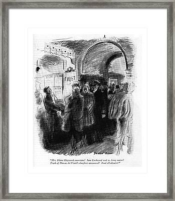 Mrs. Blaine Hayworth Entertains! Jane Lockwood Framed Print