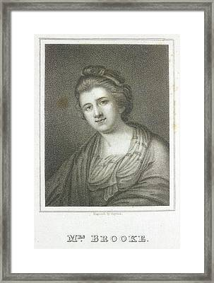 Mrs. Brooke Framed Print